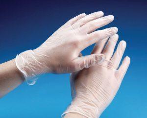 Manusi de examinare din latex, vinil sau nitril